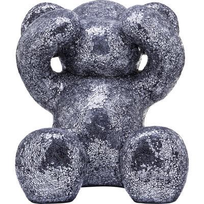 Figura decorativa Crystal Bear plata