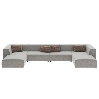 Sofá combinación Infinity Malibú gris 434cm