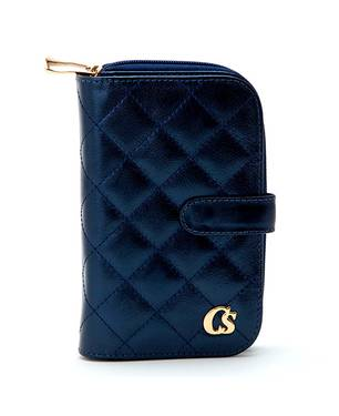 Billetera con Matelassê Azul