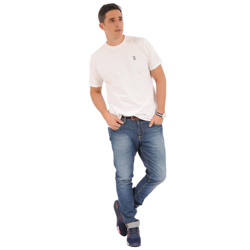 Camiseta Cuello Redondo Jack Supplies Para Hombre - Blanco