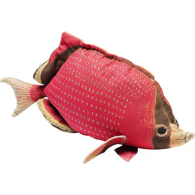 Cojín Shape Fish Dots rojo 33x62cm