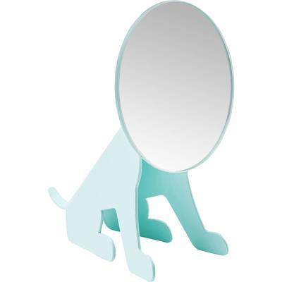 Espejo mesa Dog Face azul claro