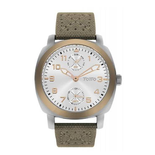 Reloj análogo blanco-verde 18-1